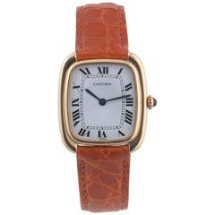 Cartier Paris Yellow Gold Gondole Automatique Self-Winding Wristwatch, 1970s