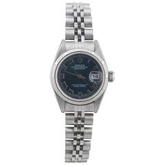 Rolex Ladies Stainless Oyster Perpetual Datejust automatic Wristwatch Ref 79190