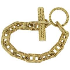 Hermes George L'Enfant Chain d'Ancre 18 Karat Yellow Gold Bracelet
