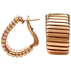 Bvlgari 18 Karat Yellow Gold Tubogas Earrings