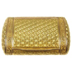 Antique French Gold Pill Box