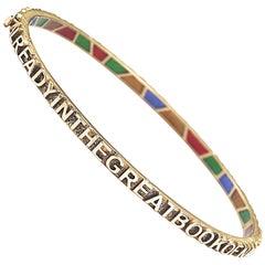 Coomi 20K Gold and Diamond Sagrada Bracelet