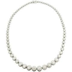 15 Carat Diamond Riviere Necklace