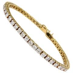 6.00 Carat Classic Diamond Tennis Bracelet G/VS 14 Karat