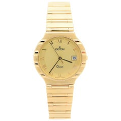 Croton Yellow Gold Vintage quartz Wristwatch