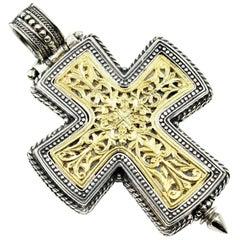 Konstantino Two-Tone Cross Pendant
