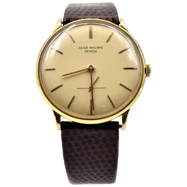 Patek Philippe Yellow Gold Vintage manual wind Wristwatch Ref 2573