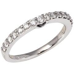 Vera Wang 14 Karat White Gold Half 0.50 Carat Diamond Eternity Ring