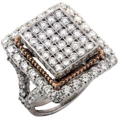 Stambolian Pave Diamond Two-Tone Rose White Gold Ring