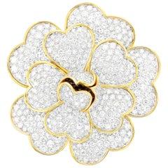 Van Cleef & Arples a Diamond Flower Brooch