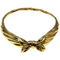 Van Cleef & Arples Karat Gold Bow Knot Necklace