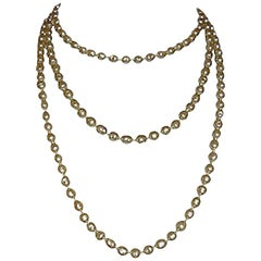 Chanel Baroque Simulated Pearl Flapper Necklace