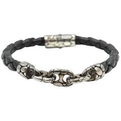 John Hardy Leather Link Dot Collection Bracelet