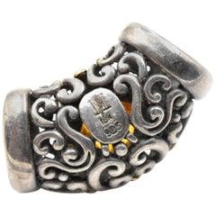 John Hardy Citrine Gemstone Sterling Silver Slide Pendant
