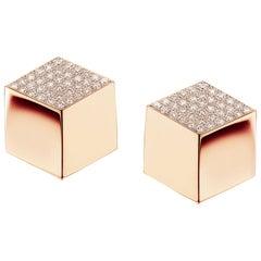 18 Karat Rose Gold BrillanteEarrings with Diamonds, 0.96 Carat