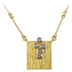 Lapponia Finland 18 Karat Gold and Diamond Necklace