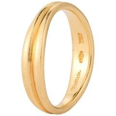 18 Karat Gold Tiffany Thin Wave Ring
