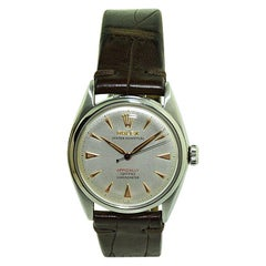 Rolex Stainless Steel with Rare Full Size Bubble Back Movement from 1951 or 1952