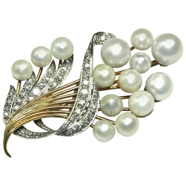 Natural Pearl Brooch Pendant