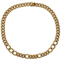 18 Karat Yellow Gold Curb Link Necklace