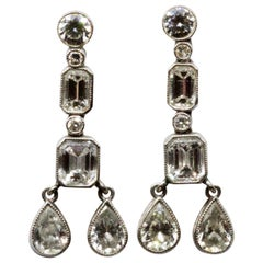 Art Deco Diamond Multi Drop Earrings