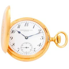 Patek Philippe & Co. Yellow Gold Hunter Case Manual Wind Pocket Watch