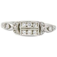 Art Deco Diamond and Platinum Ring