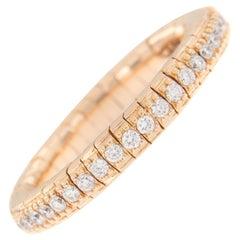 Diamond Eternity Rose Gold Flexible Band Ring