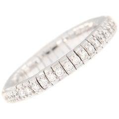 Diamond Eternity White Gold Flexible Band Ring