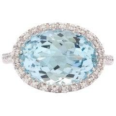 Favero Aquamarine and Diamond Ring