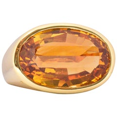 H. Stern Citrine and 18 Karat Gold Ring