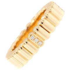 Yellow Gold Diamond Flexible Band Ring