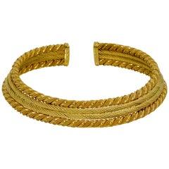 David Yurman 18 Karat Yellow Gold Rope Collar Necklace