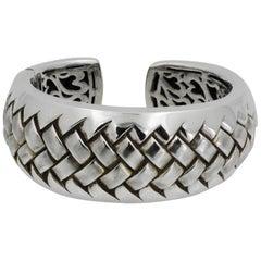 Scott Kay Sterling Silver Woven Cuff Bracelet