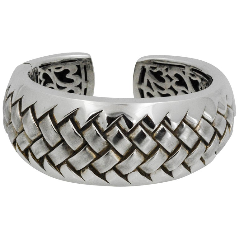 Scott Kay Sterling Silver Woven Cuff Bracelet For