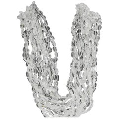 15 Strands Torsade Quartz Beads 18 Karat Yellow Gold Clasp