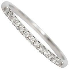 .15 Carat Total Weight Diamond White Gold Wedding Band