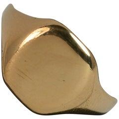 Antique 22 Carat Gold Plain Signet Ring