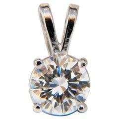 .70 Carat GIA E/VS1 Solitaire Diamond Pendant 14 Karat White Gold