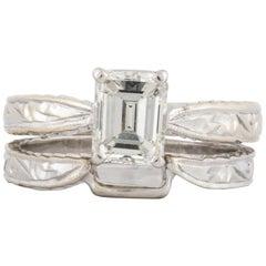 Emerald Cut Diamond Wedding Set