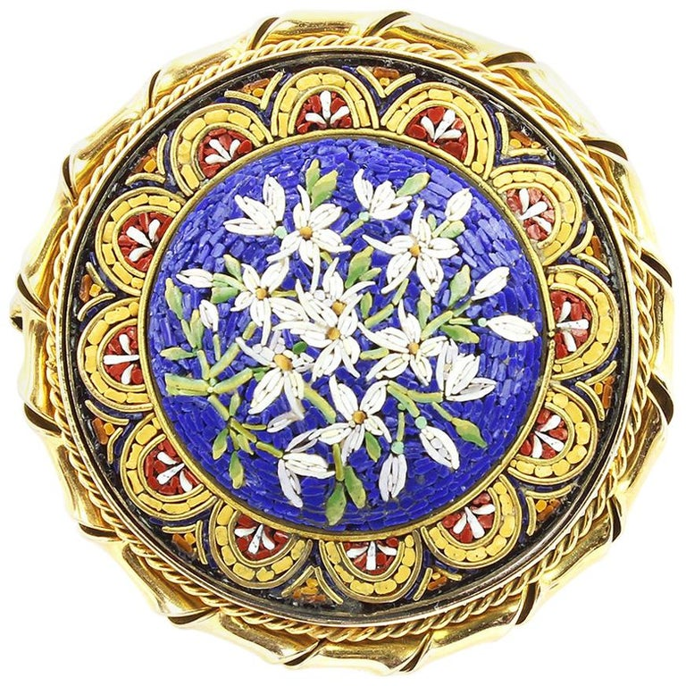 Early 20th Century Micro Mosaic Brooch