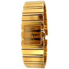 Piaget Polo 18K Gold Quartz Mens Watch 8131 C701 Swiss Authentic & Working Order