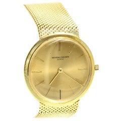 18 Karat Yellow Gold Vacheron & Constantin Gold Bracelet Watch, circa 1960s
