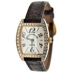 Ladies 18 Karat Rose Gold and Diamond Franck Muller Curvex Watch 2251QZDP