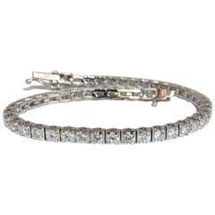 4.00 Carat Natural Diamonds Classic Tennis Bracelet 18 Karat F/G Vs