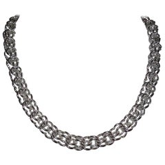 Alberto Juan Sterling Silver Handmade Chain Necklace