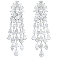 Important Diamond Dangle Drop Earrings