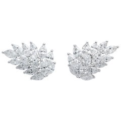 Diamond Cluster Earring Cuffs