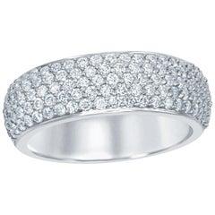 Pave Ring Half-Way 14 Karat