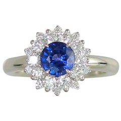 Frederic Sage 1.33 Sapphire and Diamond Engagement Ring